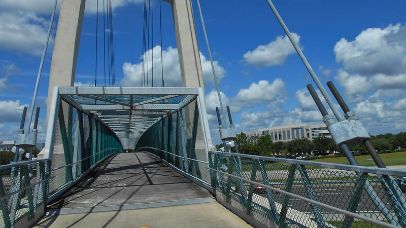 Bike path bridge over interstate