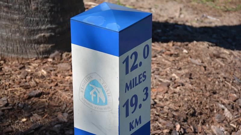 Cross Seminole Trail milepost