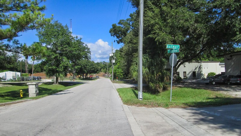 Road through industrial area