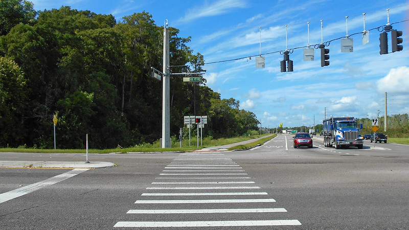 Crosswalk at broad highway