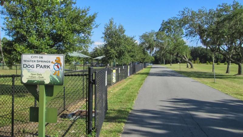 Dog park adjoining trail