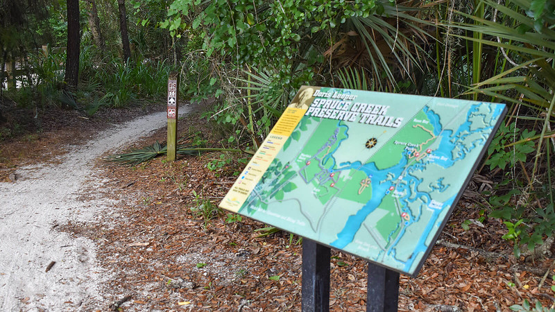 Trailhead map and signs