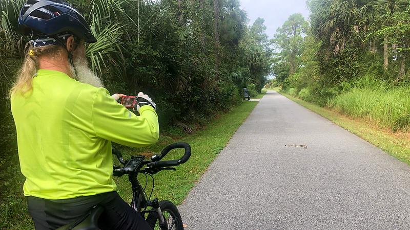 John taking photo of rattlesnake from afar