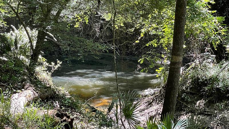 Swirl of water in sinkhole