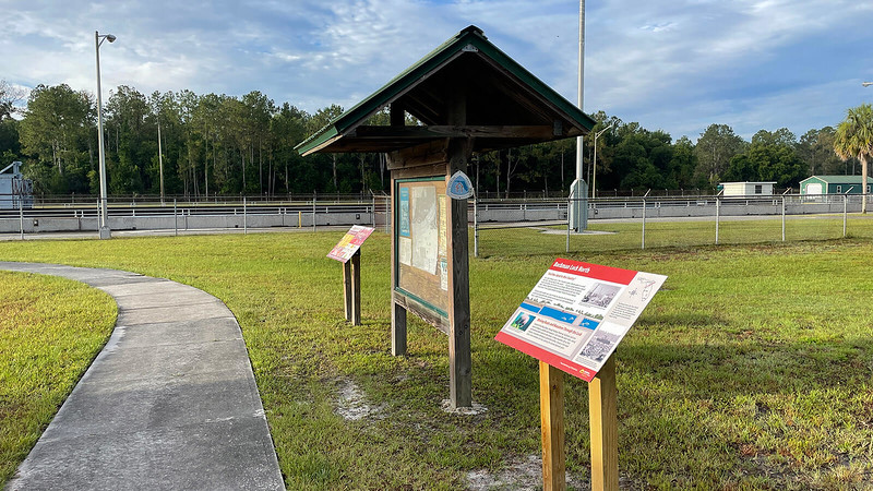 Buckman Lock and trail kiosk