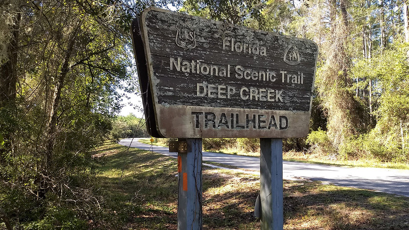 Sign for Deep Creek Trailhead