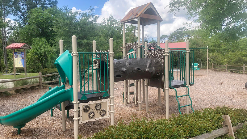 Playground with natural elements