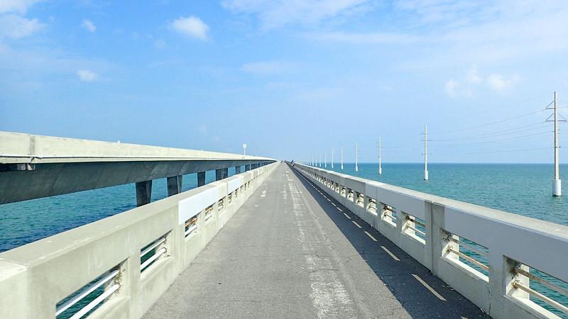 Bridge over aquamarine water