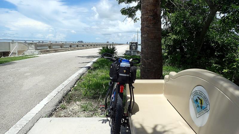 Bike next to bench