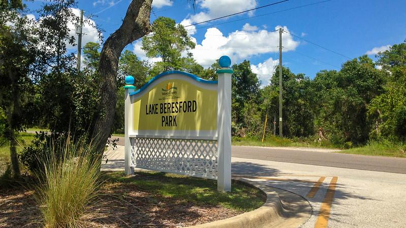 Lake Beresford Park sign