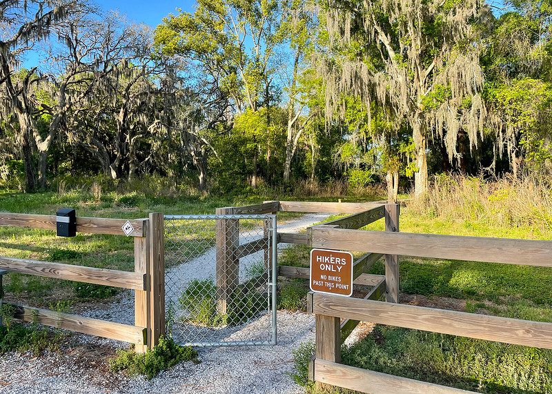Hiking entrance into the preserve