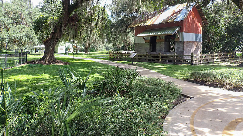 Ranch  buildings in a park setting