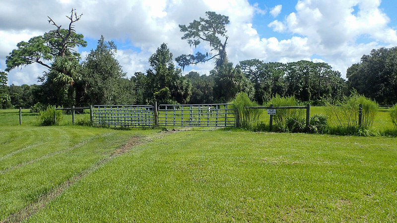 Gate into old pastureland