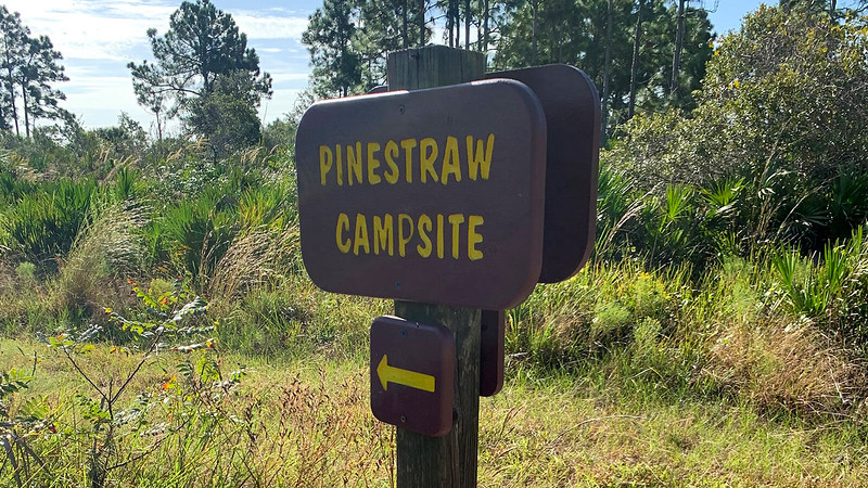 Sign for campsite
