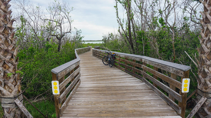 Bike on boardwalk