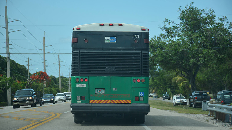 City bus in the Florida Keys
