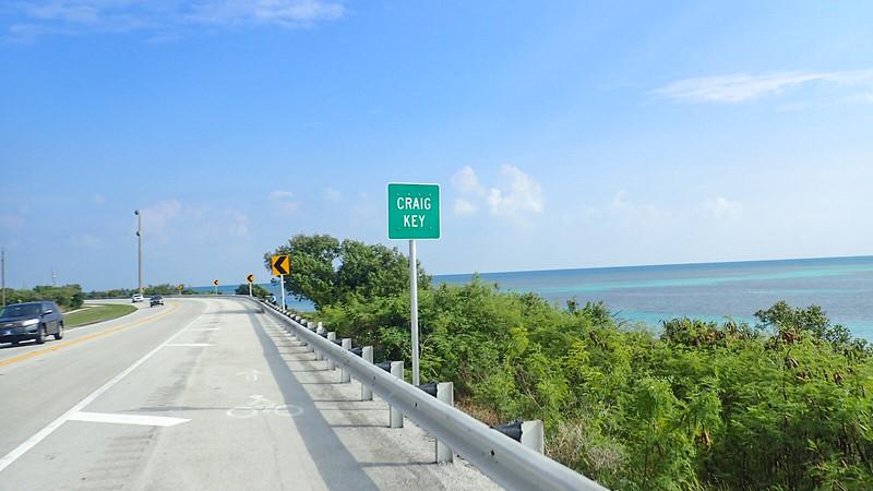 Craig Key sign with ocean beyond