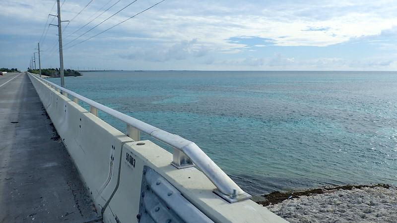 Aquamarine waters off bridge