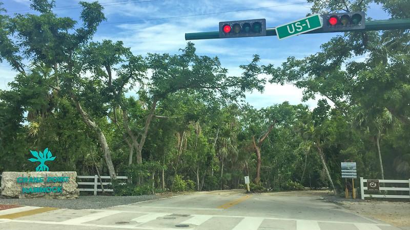 Crosswalk in front of Crane Hammock sign