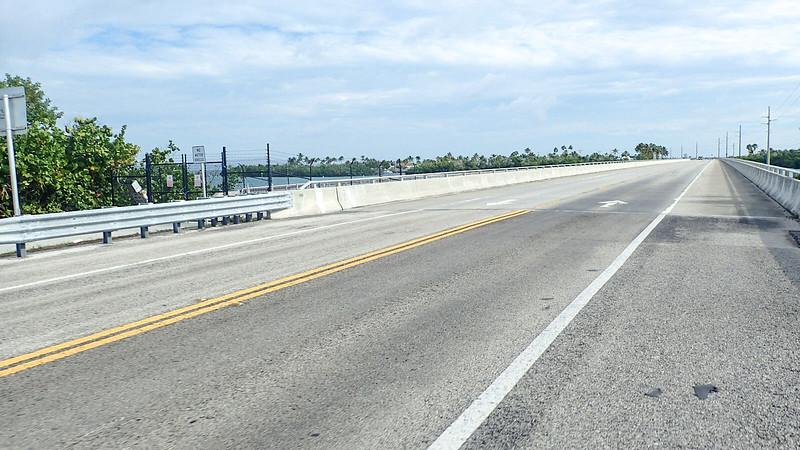 View of bridge closure from bike lane