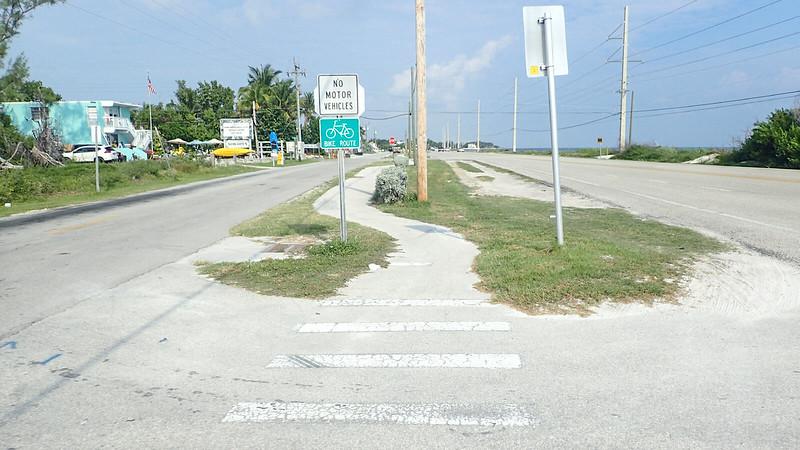 Crosswalk and Bike Path sign