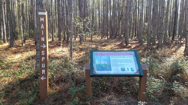 Signpost and interpretive sign