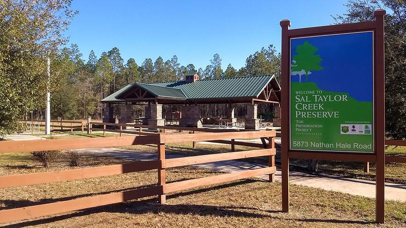 Sal Taylor Creek sign at trail entrance