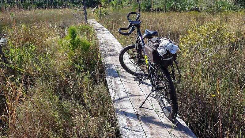 Bike on a boardwalk