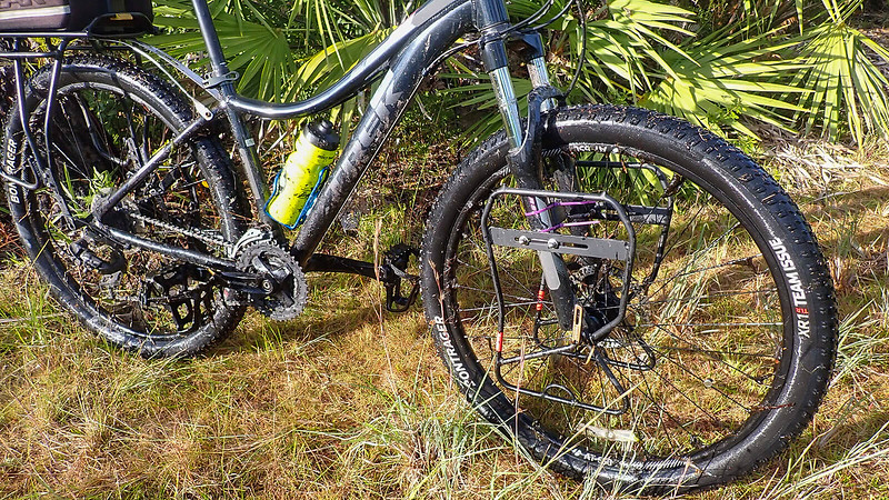 Mud and gunk all over the bike