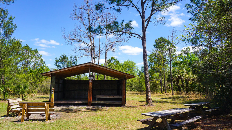 Camping shelter in Florida
