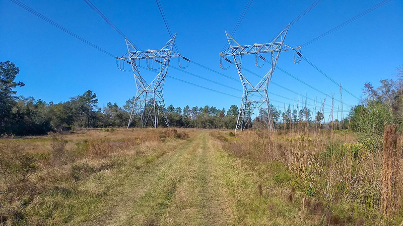 Trail under power lines