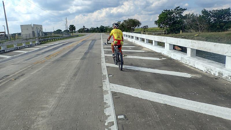 Bill on bridge over canal