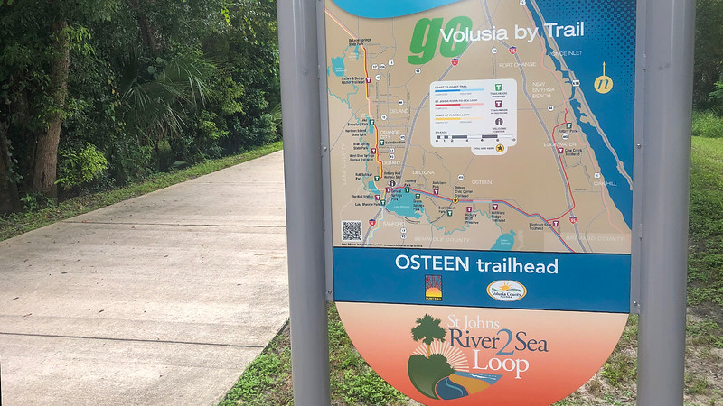 Trail map signage showing connectivity