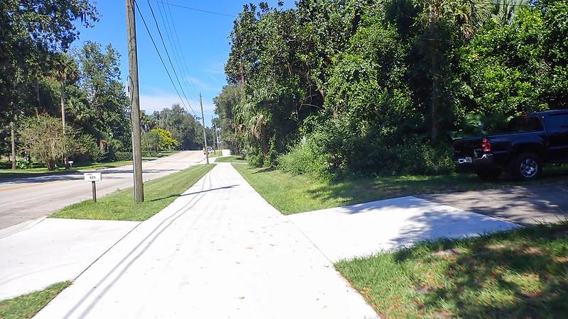 Brand new concrete bike path
