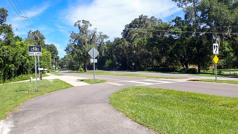 Crosswalk in residential area