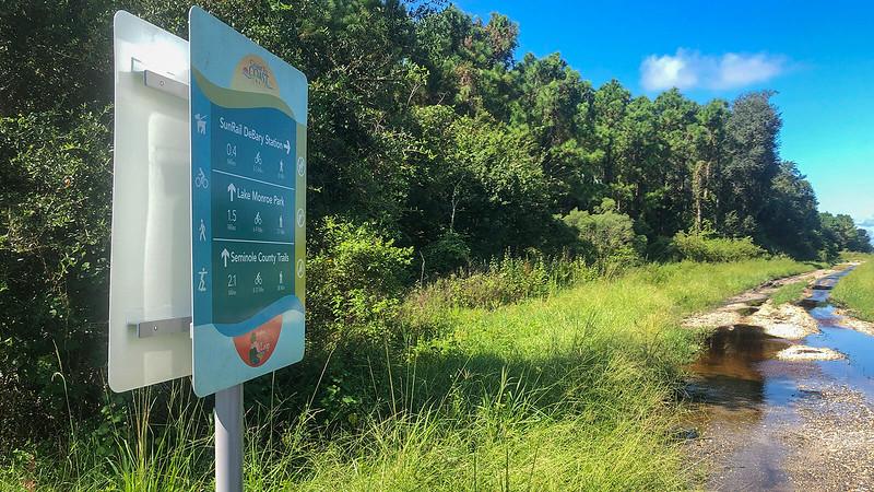 Coast to Coast sign and muddy path