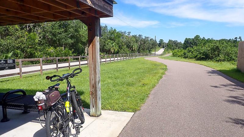 Bike resting under pavilion