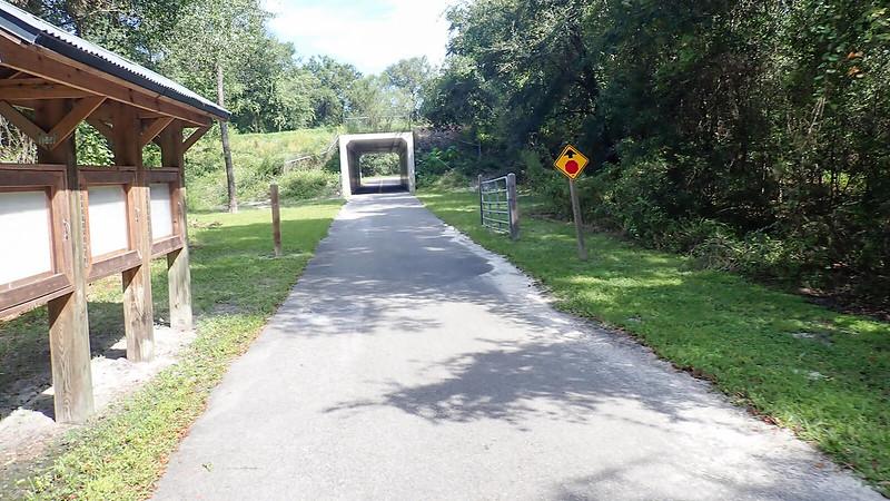 Bike tunnel under road