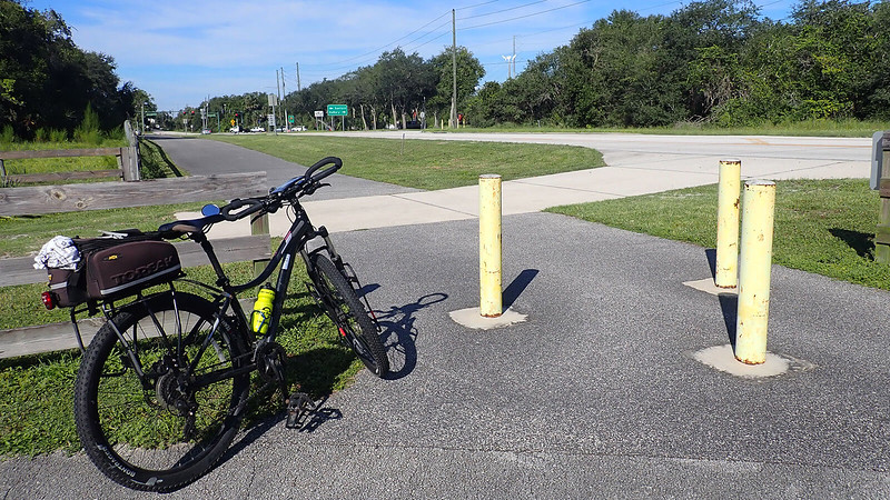 Bike at trailhead
