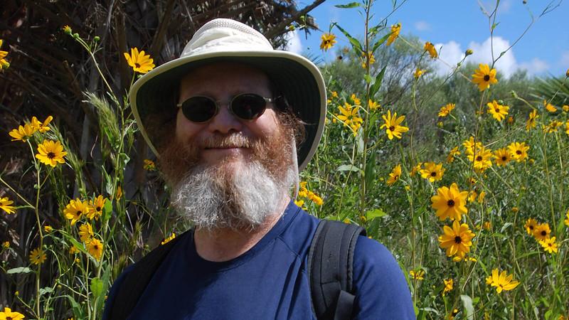 John and sunflowers