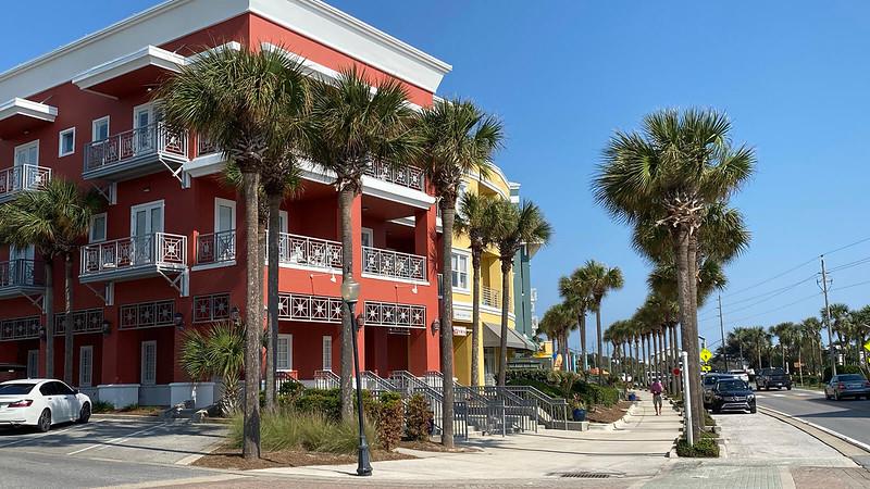 Beach style buildings