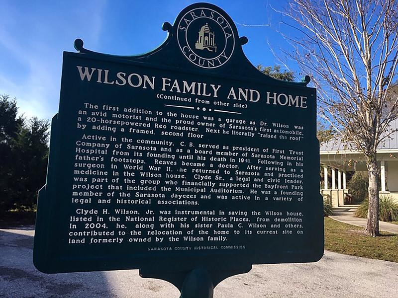 Sarasota County historic marker