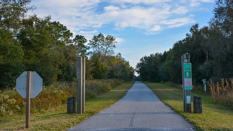 Bike path road crossing