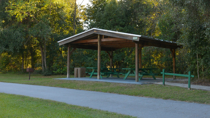 Picnic pavilion along trail