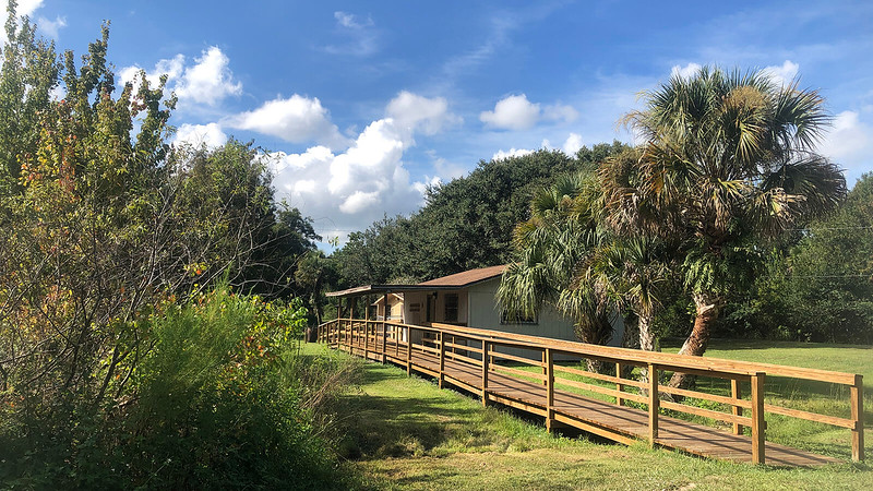 Boardwalk and nature center