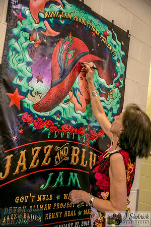 Poster Signing by Artists Florida Jazz and Blues Jam 1/27/18