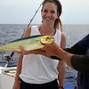 Beautiful Chloe and the Mahi Mahi she just caught for dinner