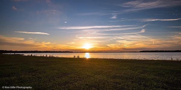 Sunset at Lake Myakka. Myakka River State Park.