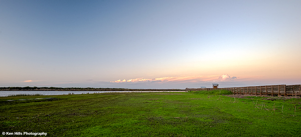 View of the Birdwalk. Myakka River State Park.