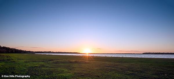Sunset from the Birdwalk. Myakka River State Park.